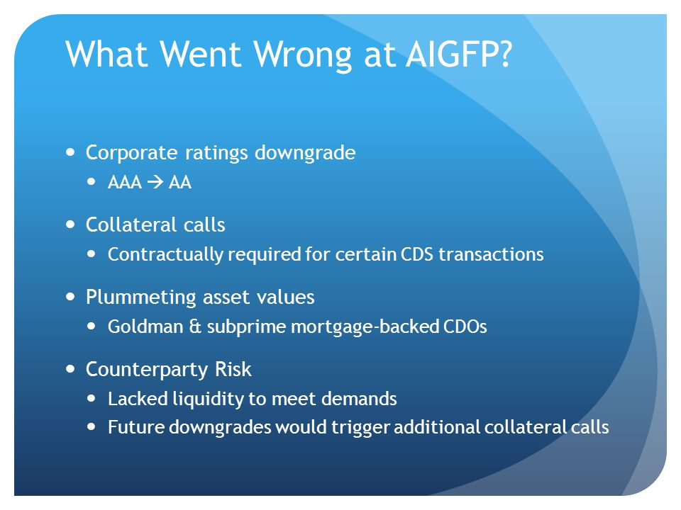 What Went Wrong at AIGFP.
