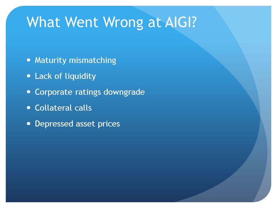 What Went Wrong at AIGI.