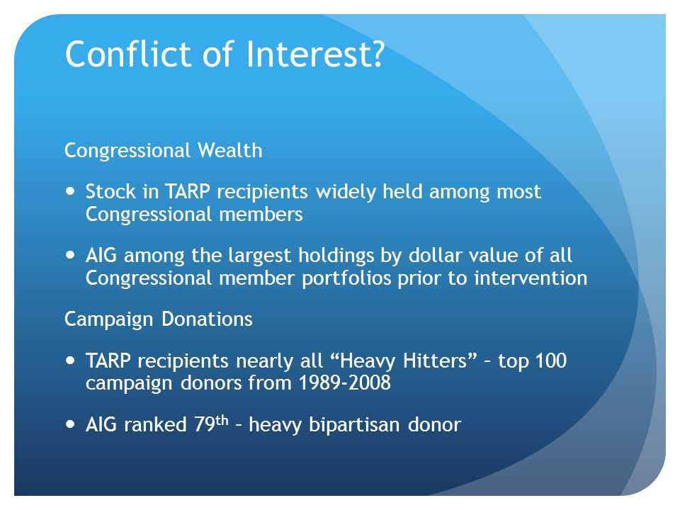 Conflict of Interest.