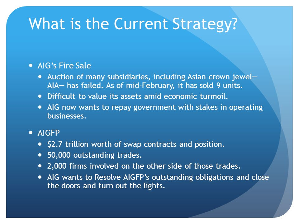 What is the Current Strategy.