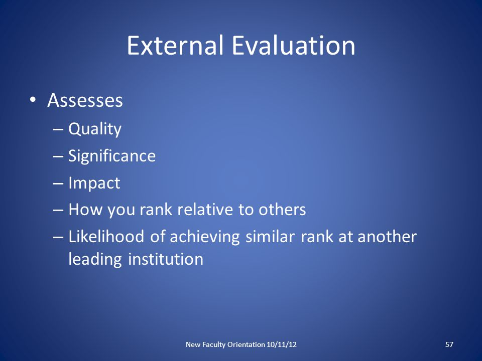External Evaluation: your strategy What are ways that you can increase awareness of your work.