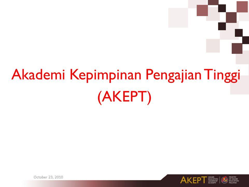Akademi Kepimpinan Pengajian Tinggi (AKEPT) October 23, 2010