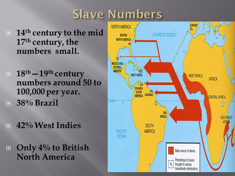  14 th century to the mid 17 th century, the numbers small.
