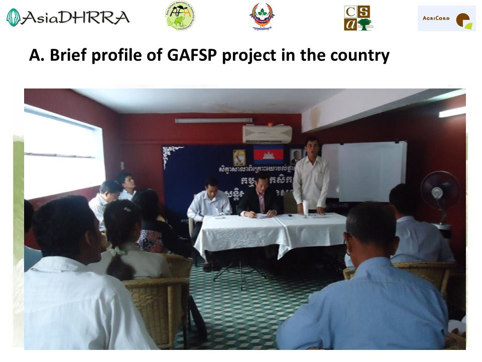 A. Brief profile of GAFSP project in the country