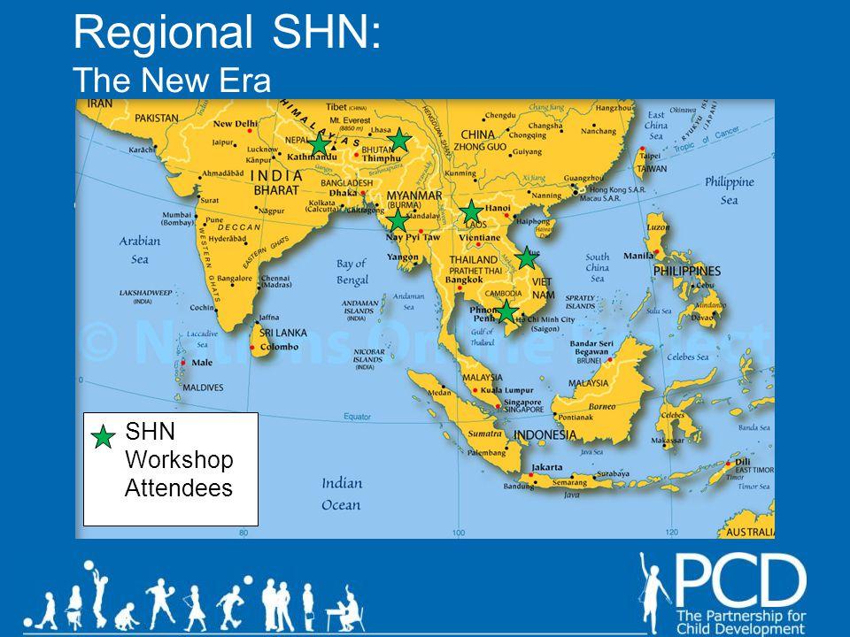 Global / regional maps. SHN Workshop Attendees