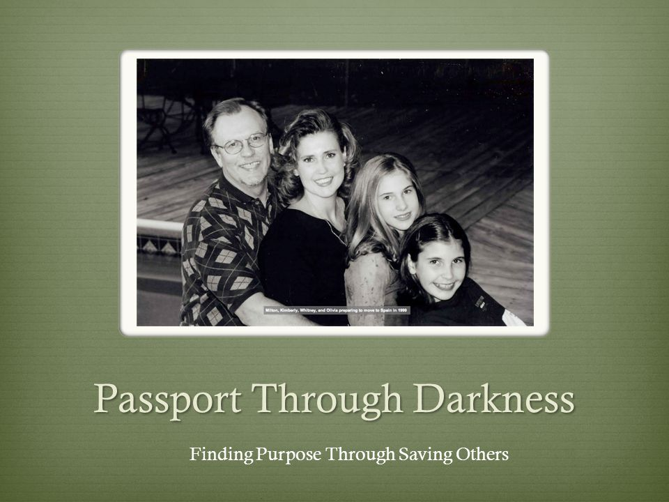 Kimberly L. Smith Finding Purpose Through Saving Others