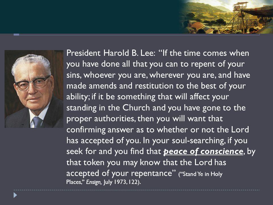 Mosiah 4-5 President Harold B.