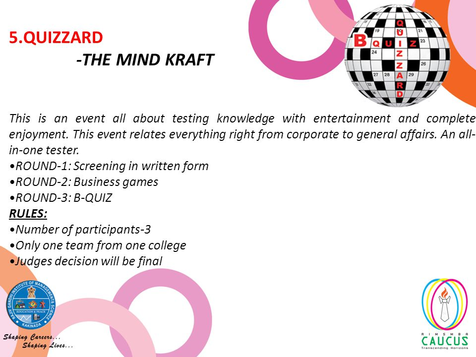 This is an event all about testing knowledge with entertainment and complete enjoyment.