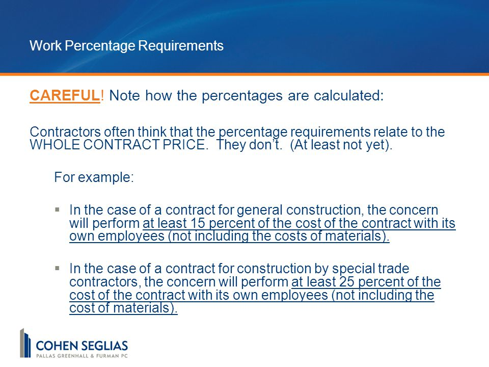Work Percentage Requirements CAREFUL.