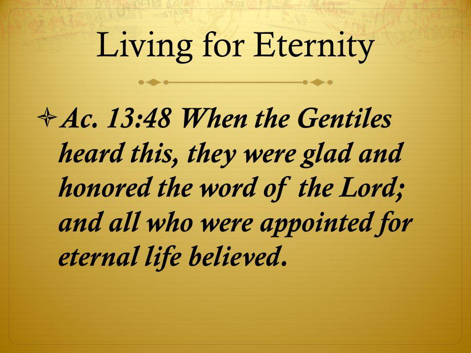 Living for Eternity  Ac.