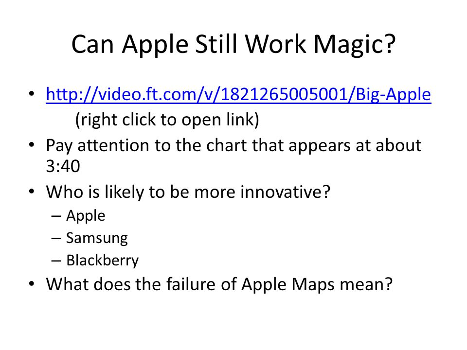 Can Apple Still Work Magic.