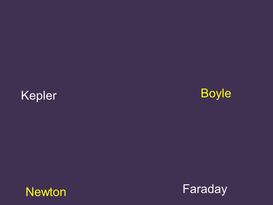 Kepler Boyle Newton Faraday