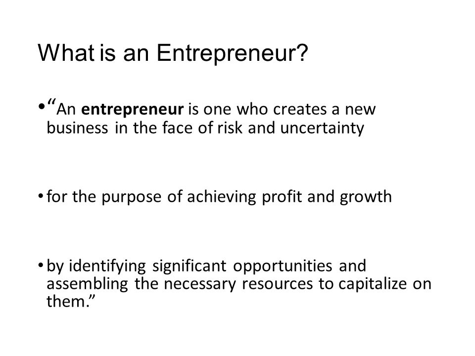 The Entrepreneurial Personality 9.High Degree of commitment Entrepreneurship is hard work, and launching a company successfully requires total commitment from an entrepreneur.