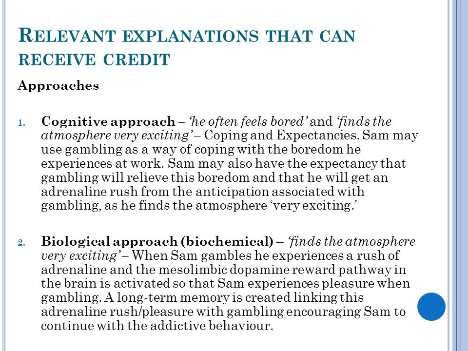 R ELEVANT EXPLANATIONS THAT CAN RECEIVE CREDIT Approaches 1.