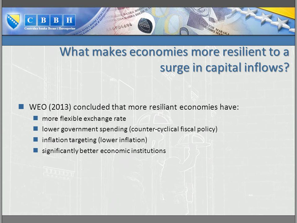 What makes economies more resilient to a surge in capital inflows.