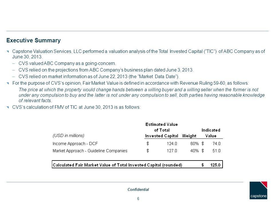 Economic, Industry & Company Profile Confidential 7