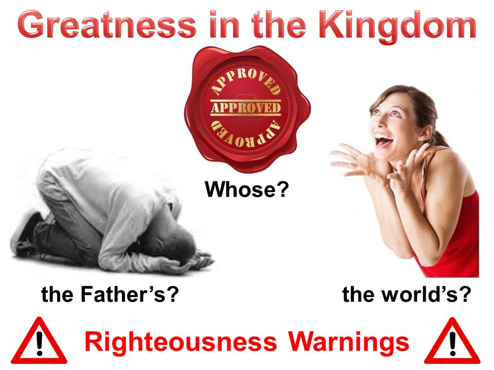 Righteousness Warnings … give … (Matt.6:2-4) … pray … (Matt.