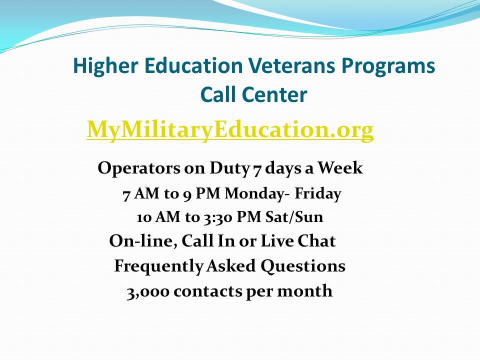 Where do You Go to Get Help? www.MyMilitaryEducation.or www.MyMilitaryEducation.org