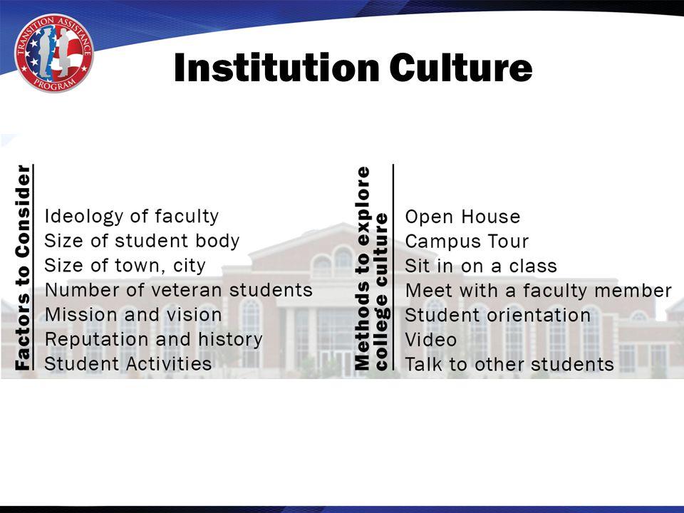 Institution Culture