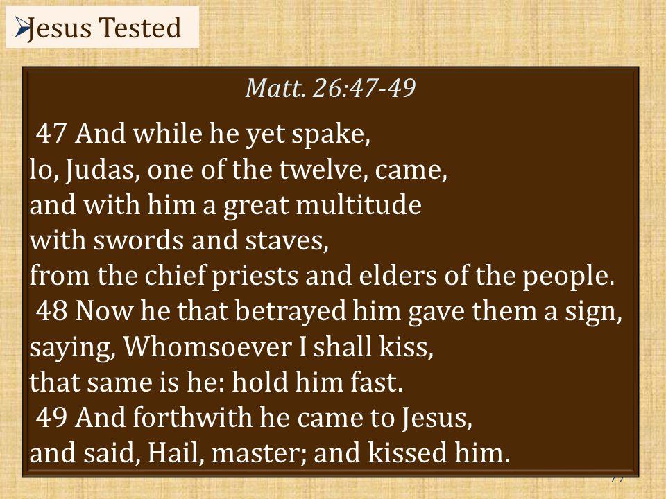 77  Jesus Tested Matt.
