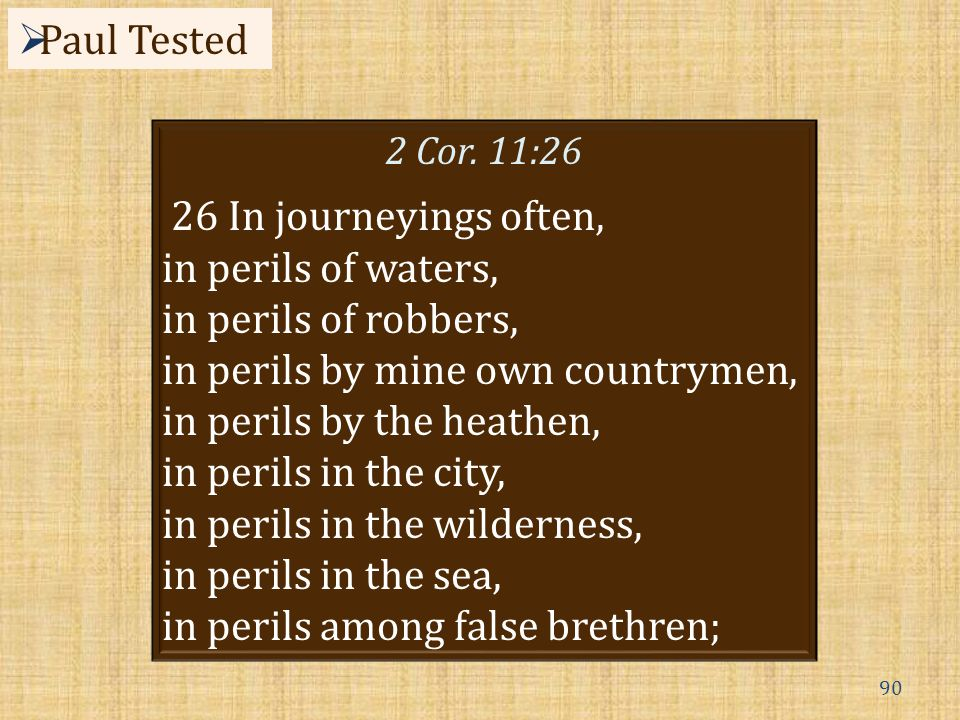 90  Paul Tested 2 Cor.