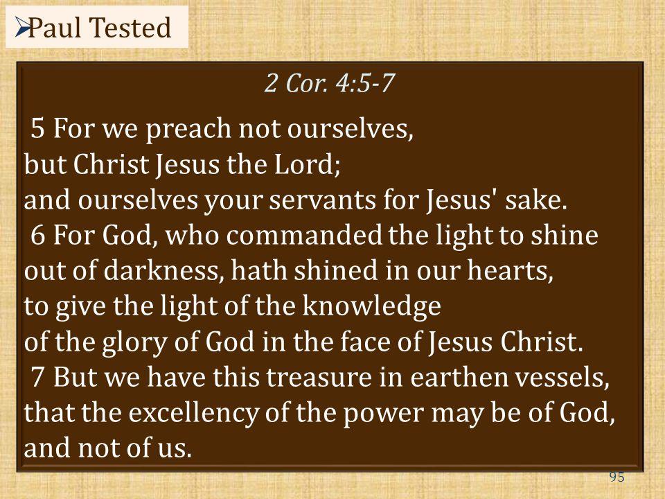 95  Paul Tested 2 Cor.