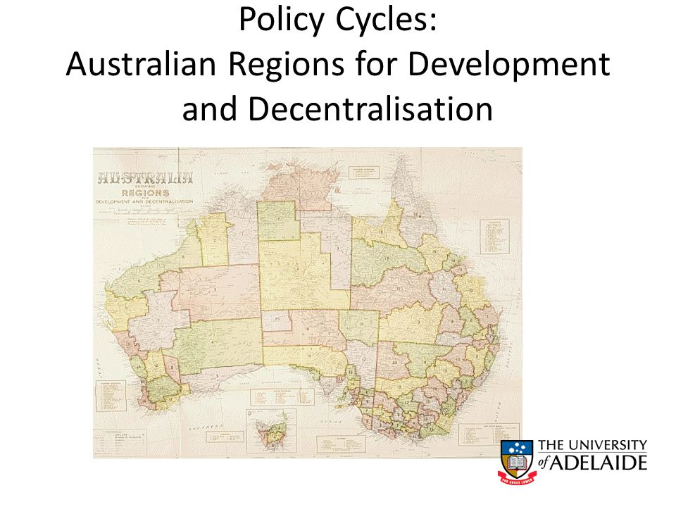 Policy Cycles: Australian Regions for Development and Decentralisation
