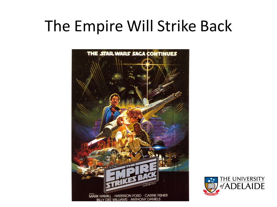 The Empire Will Strike Back