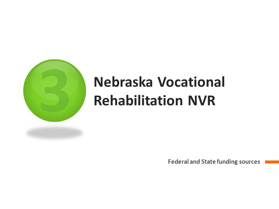 3 Nebraska Vocational Rehabilitation NVR Federal and State funding sources