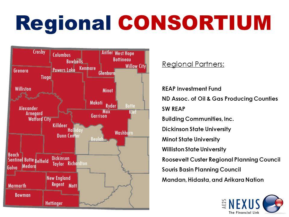 Regional CONSORTIUM Regional Partners: REAP Investment Fund ND Assoc.