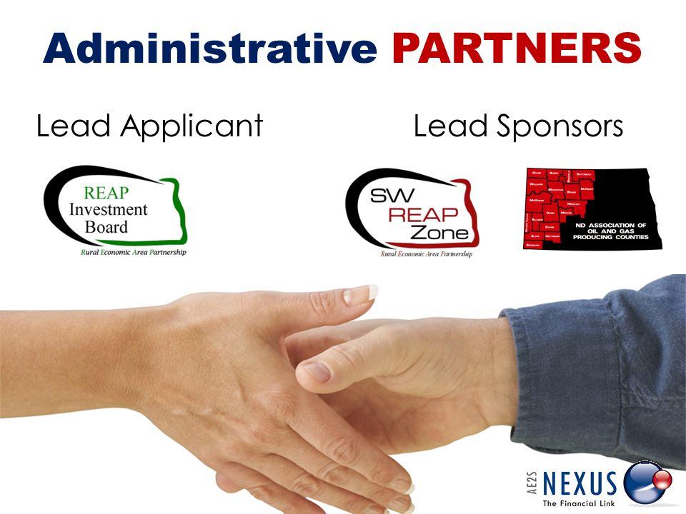 Lead Applicant Administrative PARTNERS Lead Sponsors