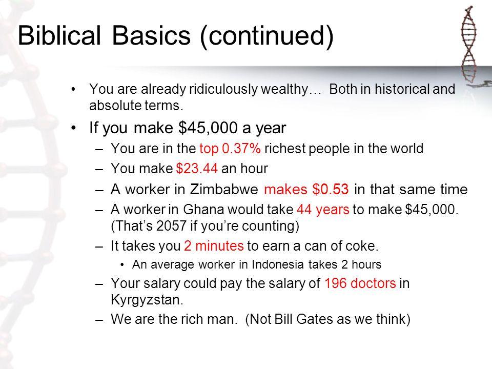 Biblical Basics (continued) God wants you to prosper.