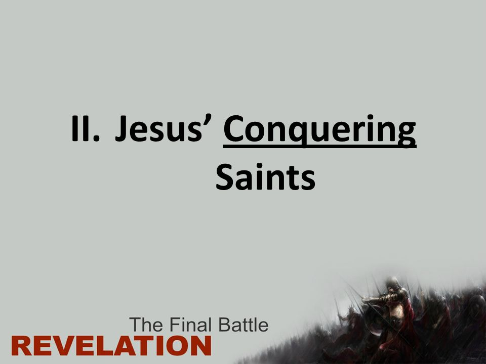 Revelation 14:12-13 Here is a call for the endurance of the saints, those who keep the commandments of God and their faith in Jesus.