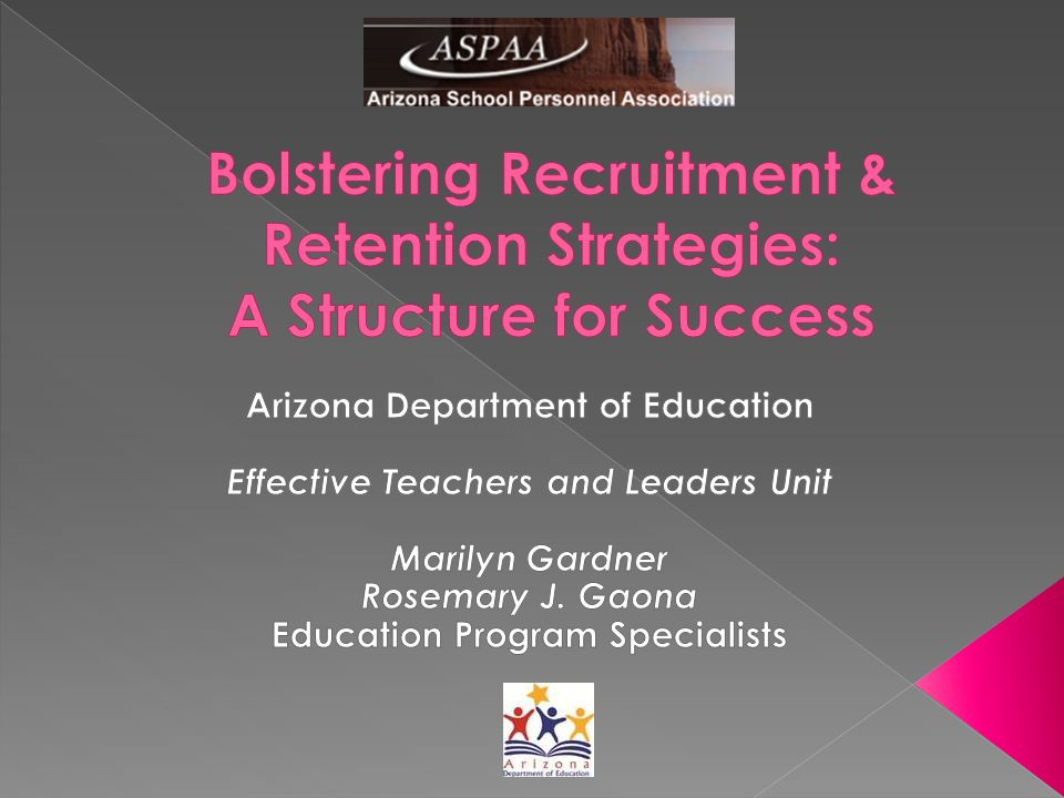 Turn to your neighbor and :  Discuss one successful recruitment strategy that you have been using.