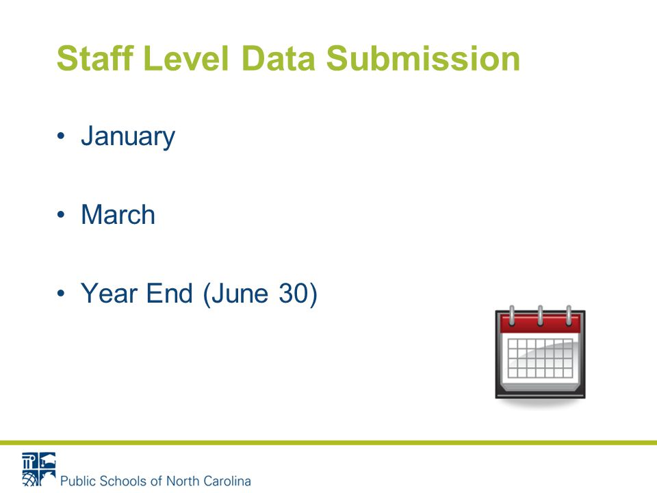 Staff Level Data Submission January March Year End (June 30)