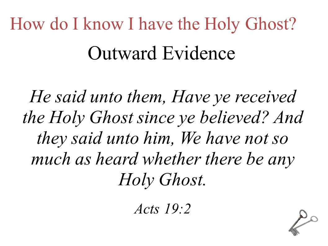 How do I Receive the Holy Ghost.Pray in an audible voice.
