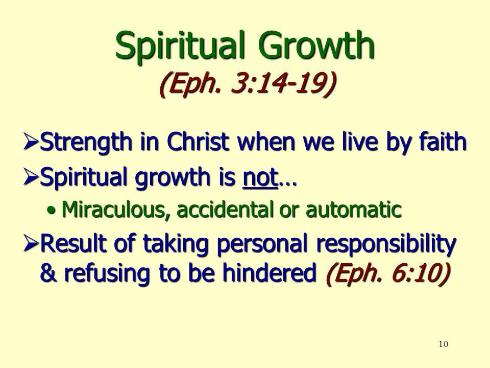 10 Spiritual Growth (Eph.