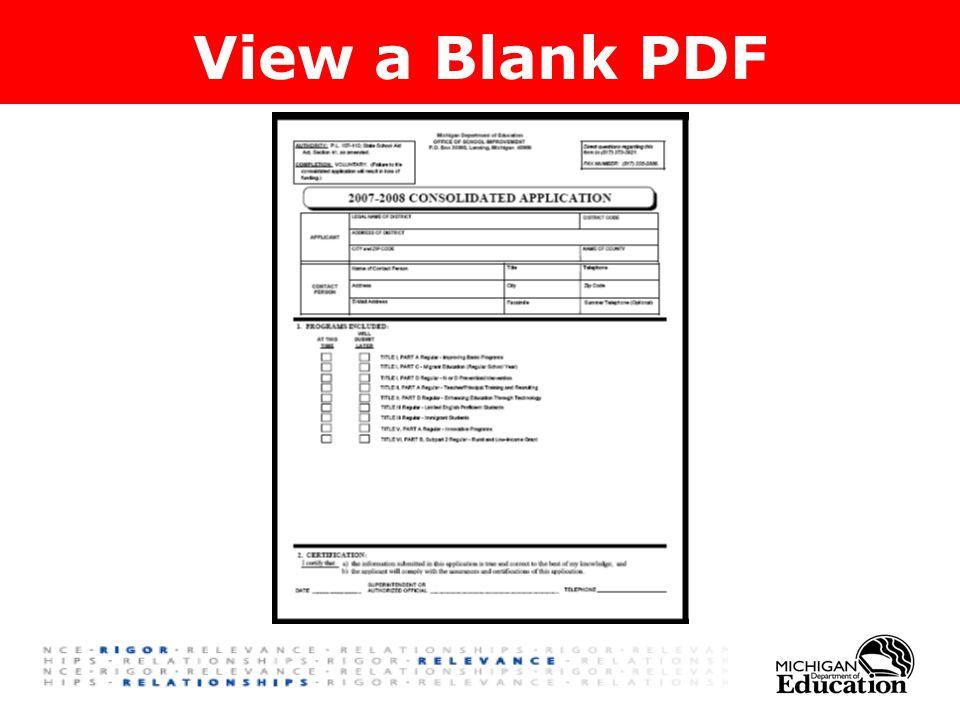 View a Blank PDF
