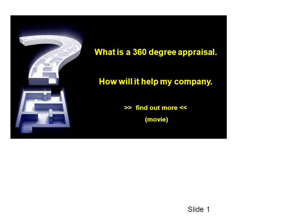 Starting from the basics: What is an appraisal ?? Slide 2