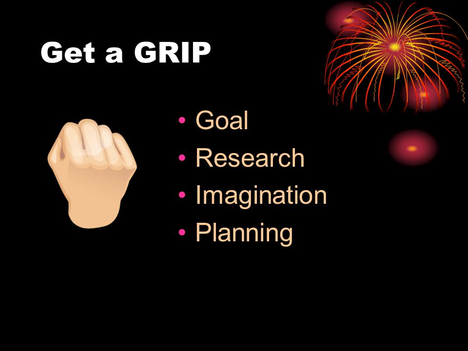 Get a GRIP Goal Research Imagination Planning
