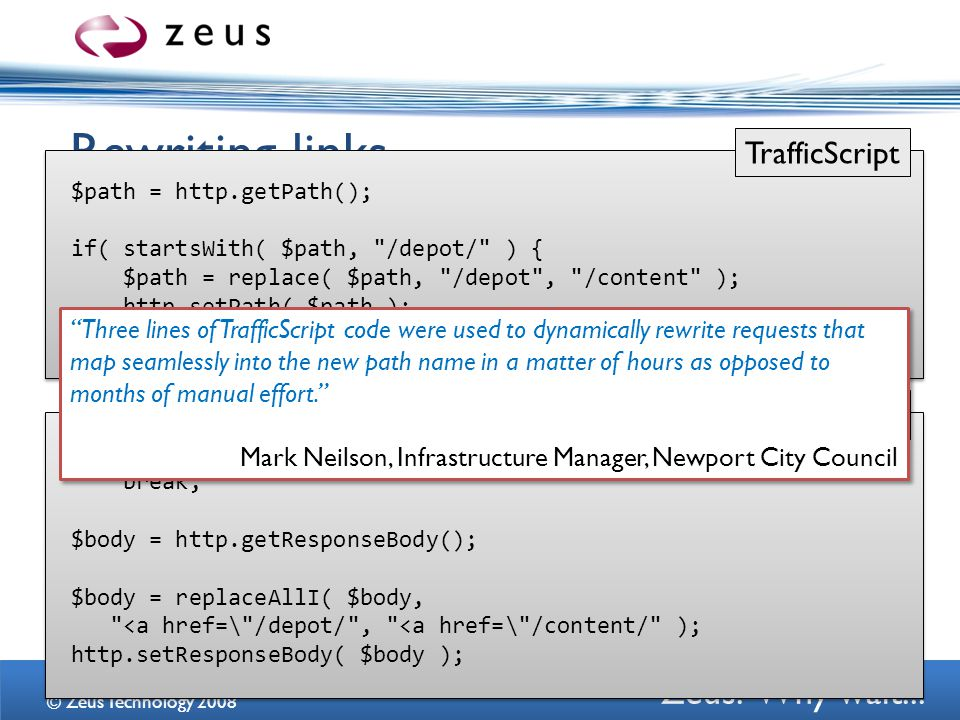 Zeus.Why wait... Rewriting links...