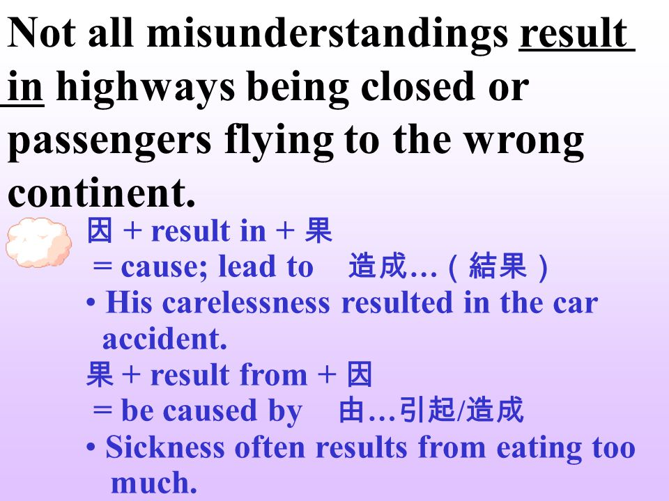 Not all misunderstandings result in highways being closed or passengers flying to the wrong continent. Not all 表示部分否定,相當於 not every 。 Not all the stud
