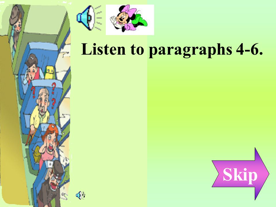 Vocabulary Idioms & Phrases Reading~ Paragraphs 4-6 Post-reading