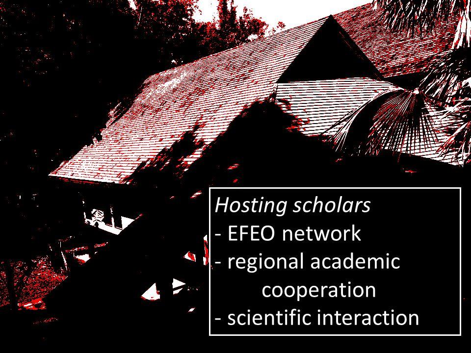 Hosting scholars - EFEO network - regional academic cooperation - scientific interaction