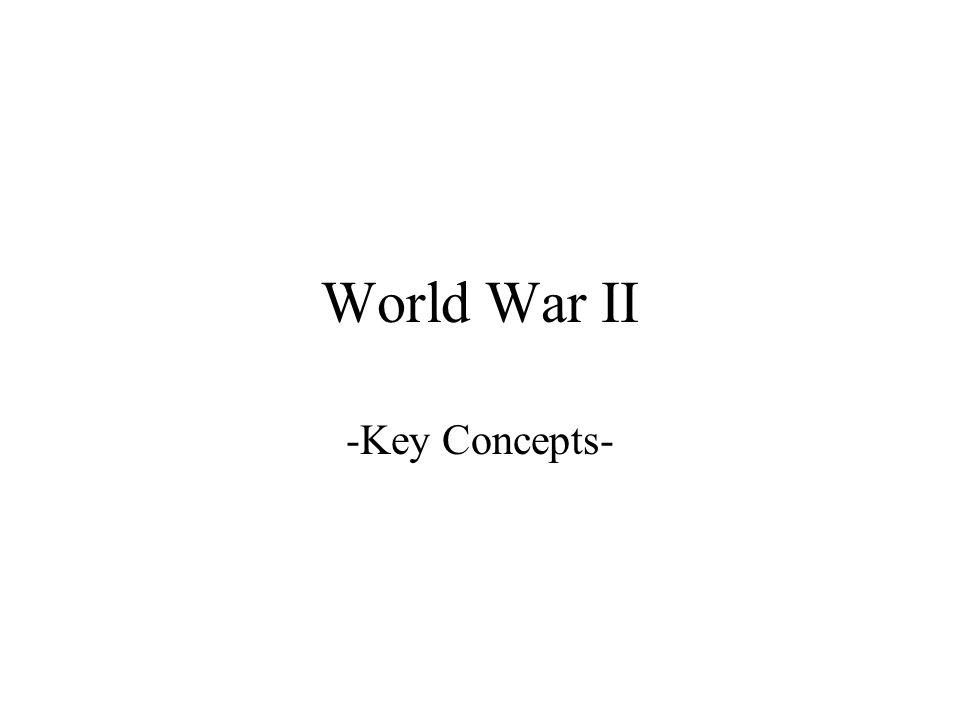 World War II -Key Concepts-