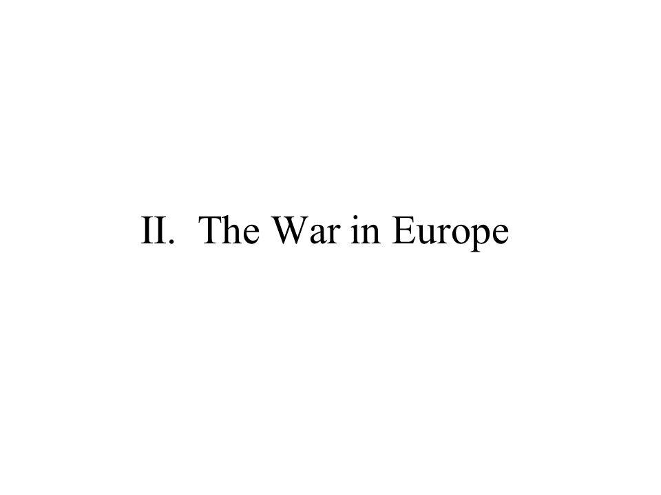 II. The War in Europe