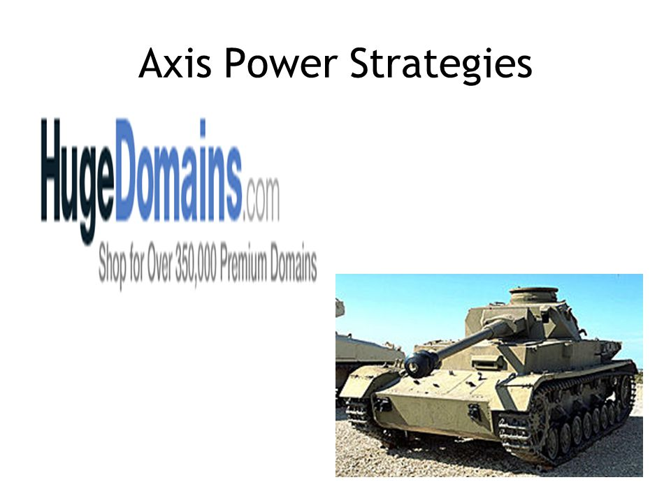 Axis Power Strategies