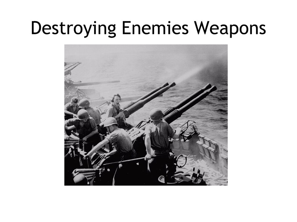 Destroying Enemies Weapons