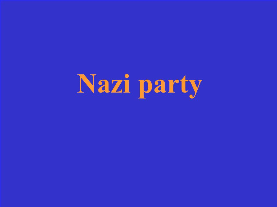 What was the name of Hitler's party in Germany
