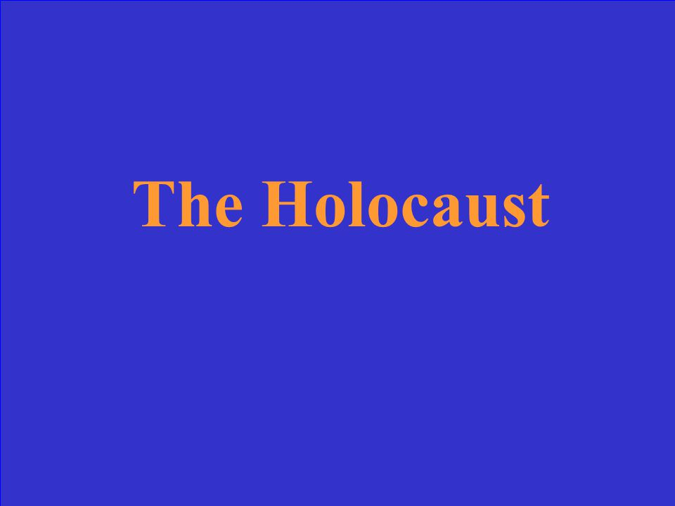 What was the systematic attempt to rid Europe of all Jews called?